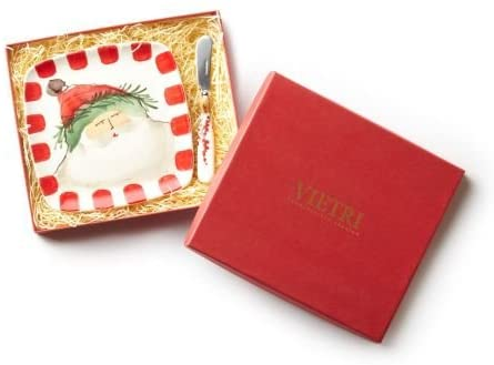 Vietri - Old St. Nick Plate with Spreader, Square