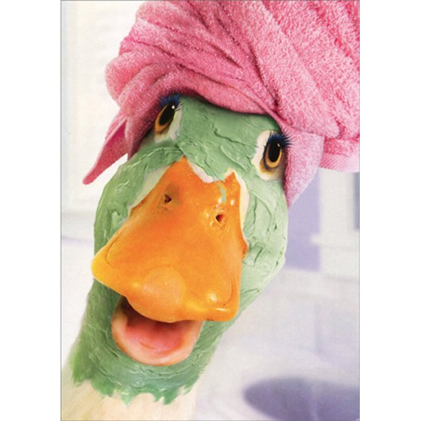 Avanti - Duck Facial Birthday Card