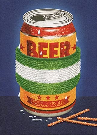 Avanti - Beer with Sweat Band Birthday Card