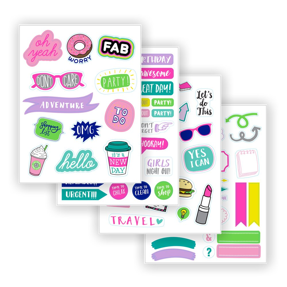 Eccolo - Totally Cool Sticker Book, Turquoise