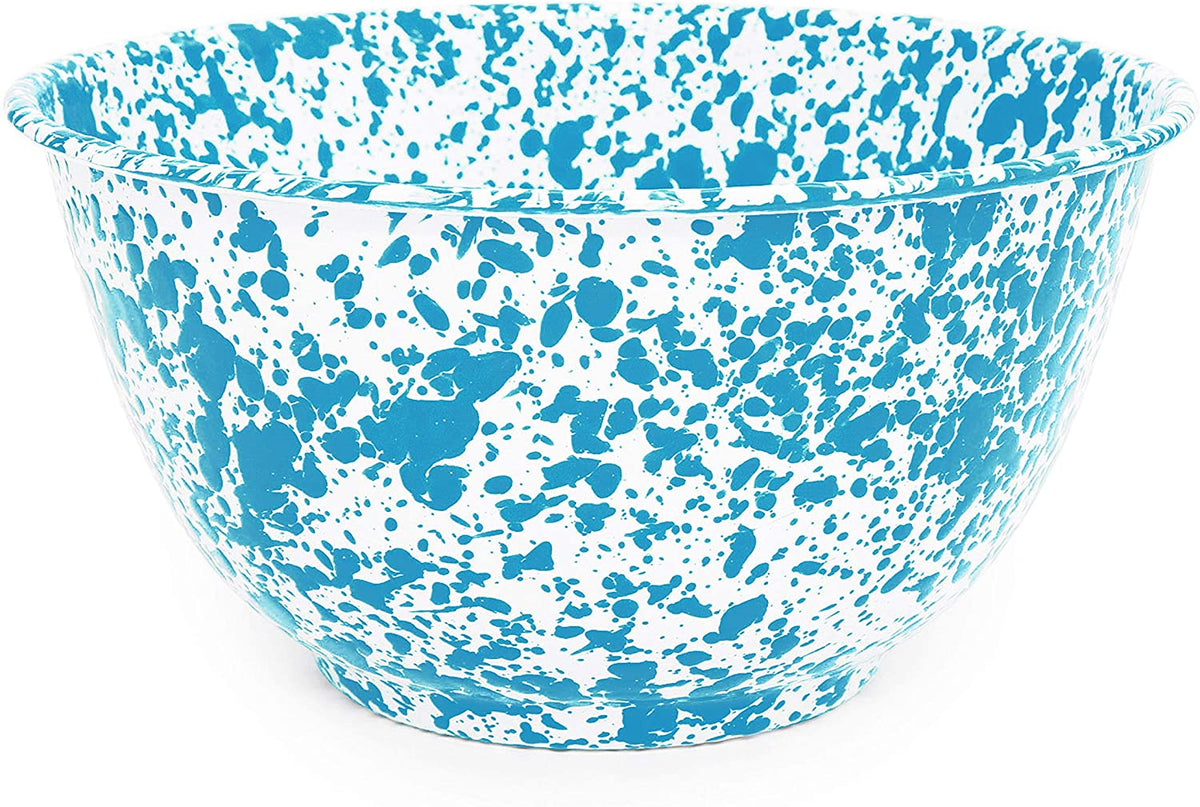 Crow Canyon - Enamelware Splatter 4-quart Large Salad Bowl