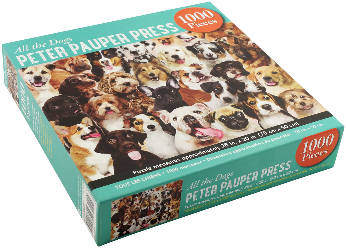 "Peter Pauper Press - ""All The Dogs"" Jigsaw Puzzle (1000 pieces)"