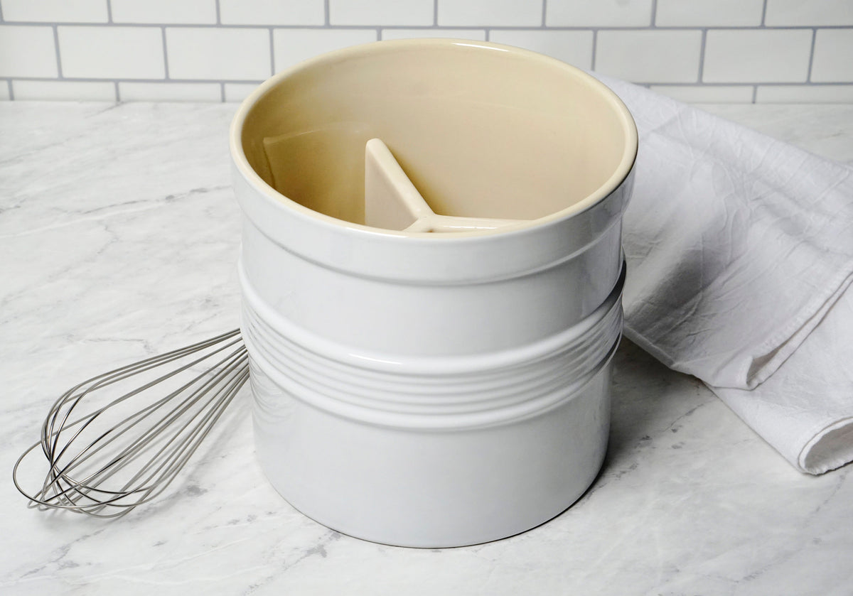 RSVP - Oversized Tool Crock, White