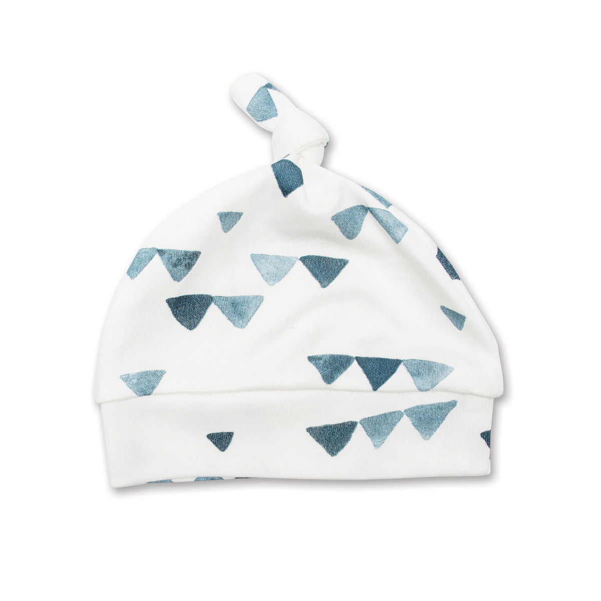 Mary Meyer - Lulujo Hello World Hat & Swaddle Set, Navy Triangles