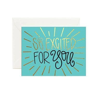 "Mary Square - ""So Excited For You"" Greeting Card (Green)"