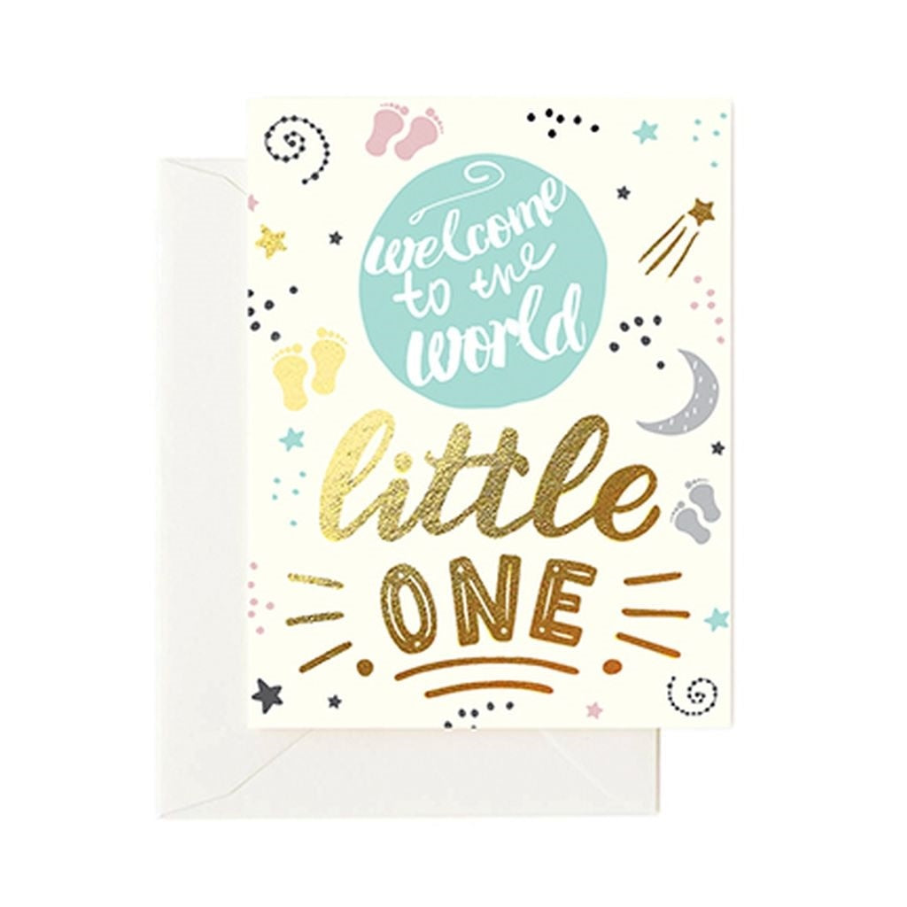 "Mary Square - ""Welcome To The World"" Greeting Card"