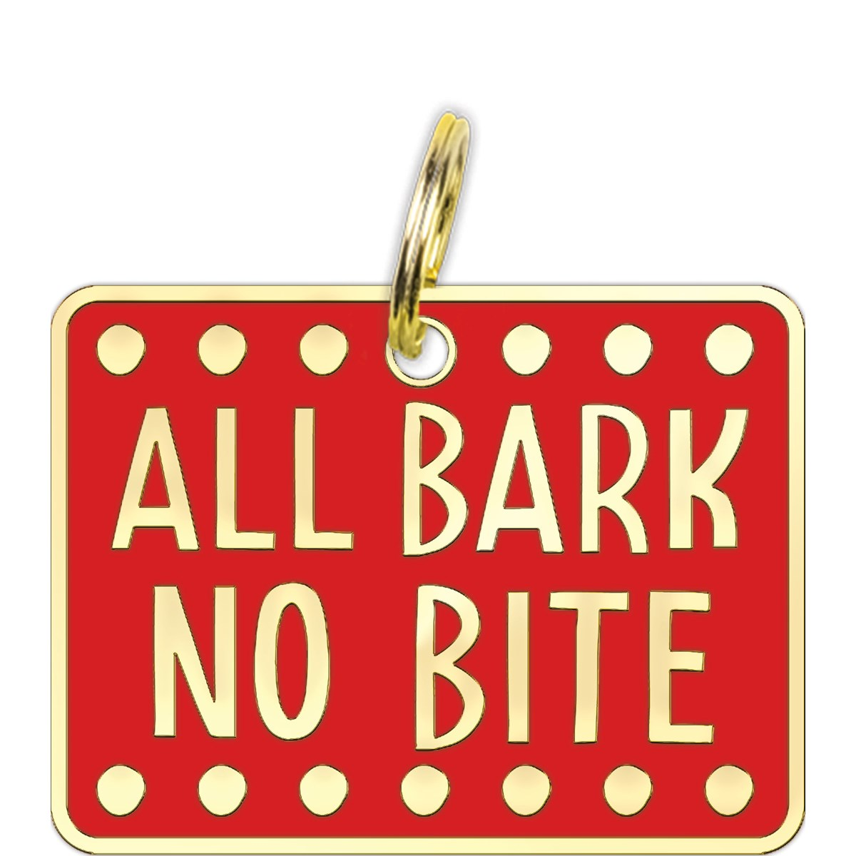 Primitives by Kathy - All Bark No Bite Collar Pet Charm