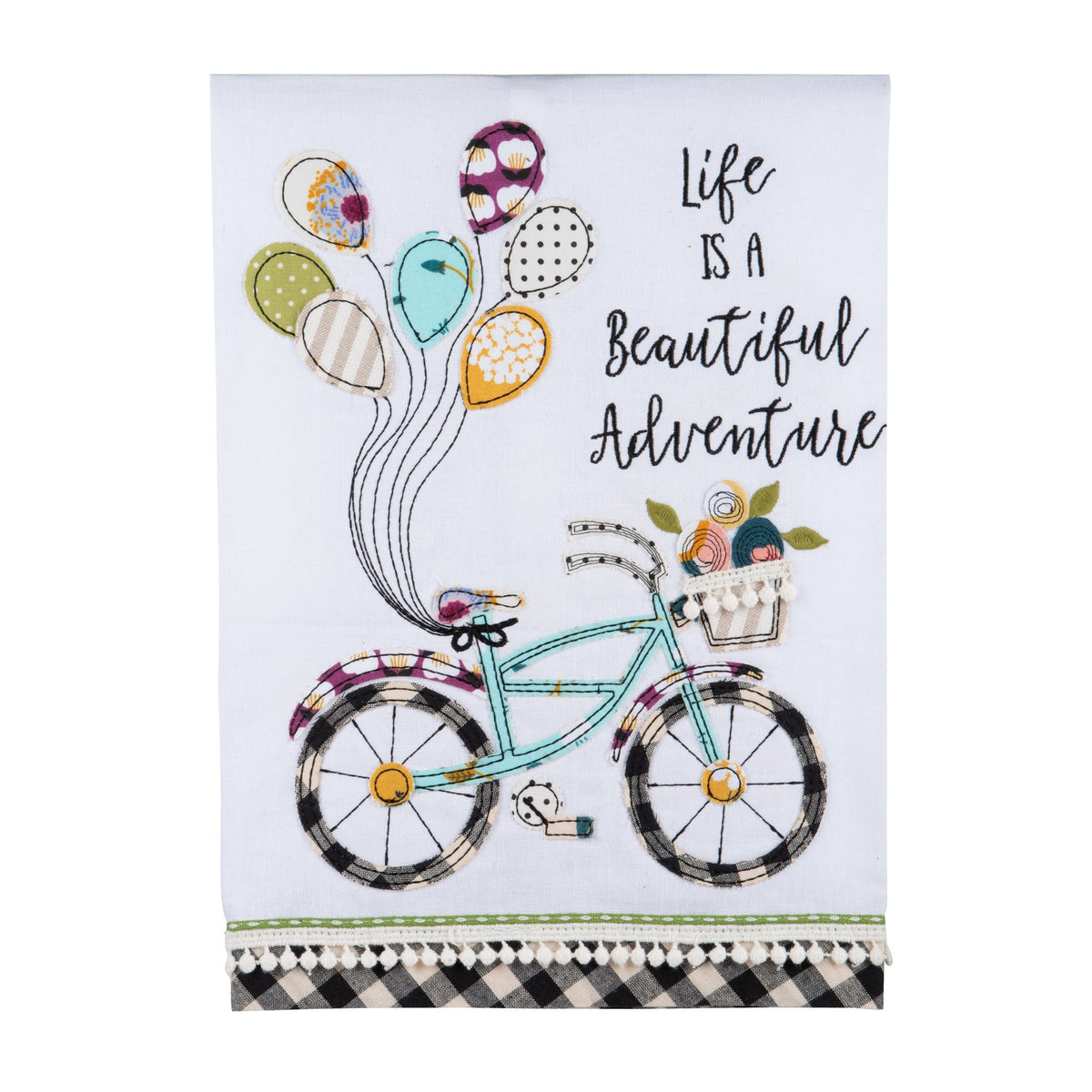 "Gloryhaus - ""Life Is A Beautiful Adventure"" Tea Towel"