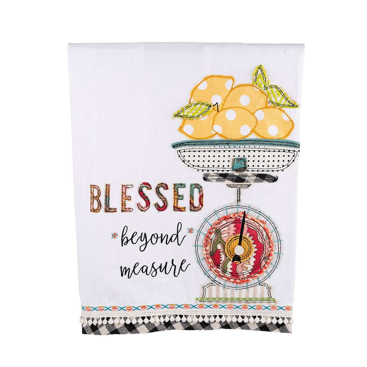 "Gloryhaus - ""Blessed Beyond Measure"" Tea Towel"
