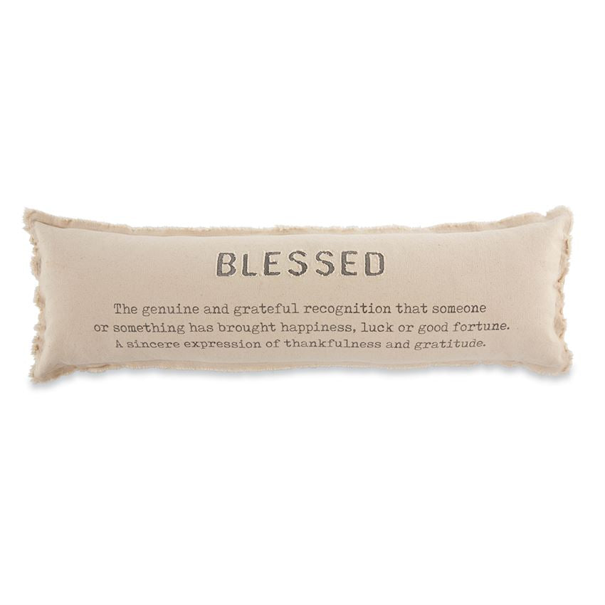 "Mud Pie - ""Blessed"" Long Decor Pillow"