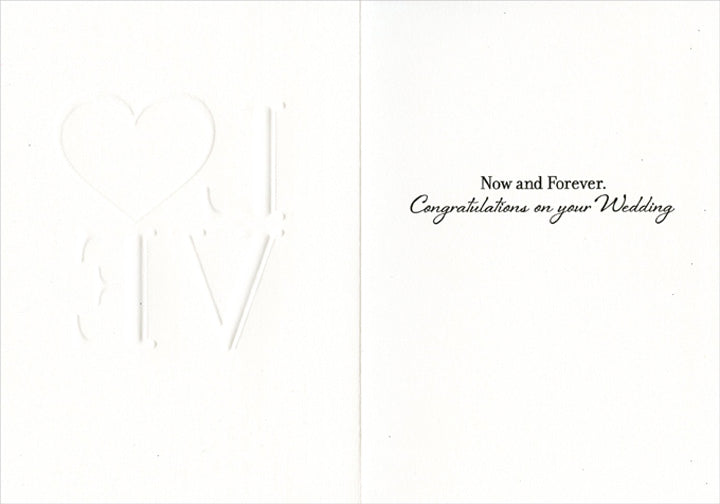 Avanti - Love Heart Wedding Card