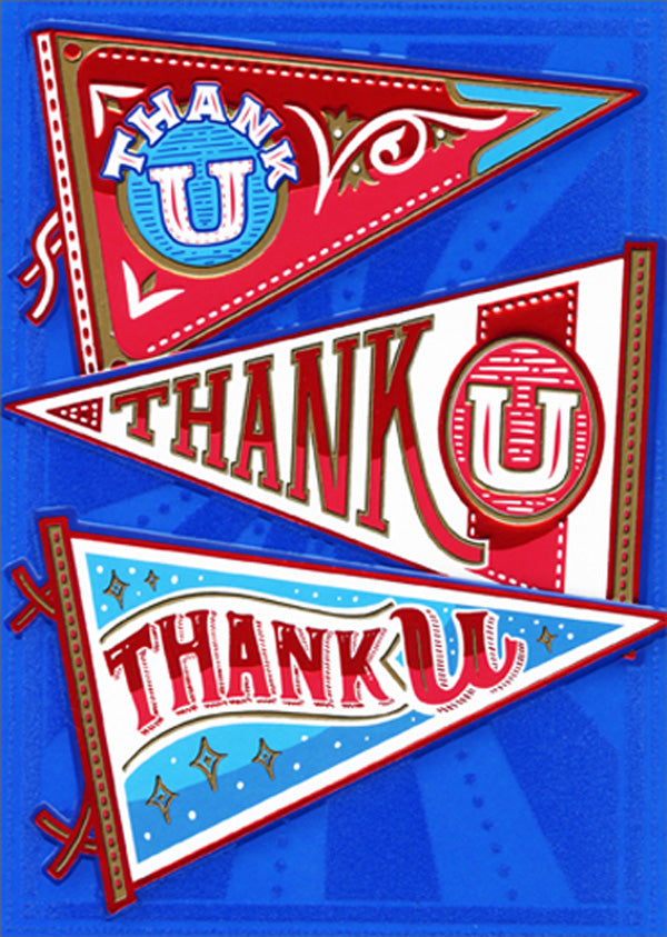 Avanti - Pennants Thank You Card