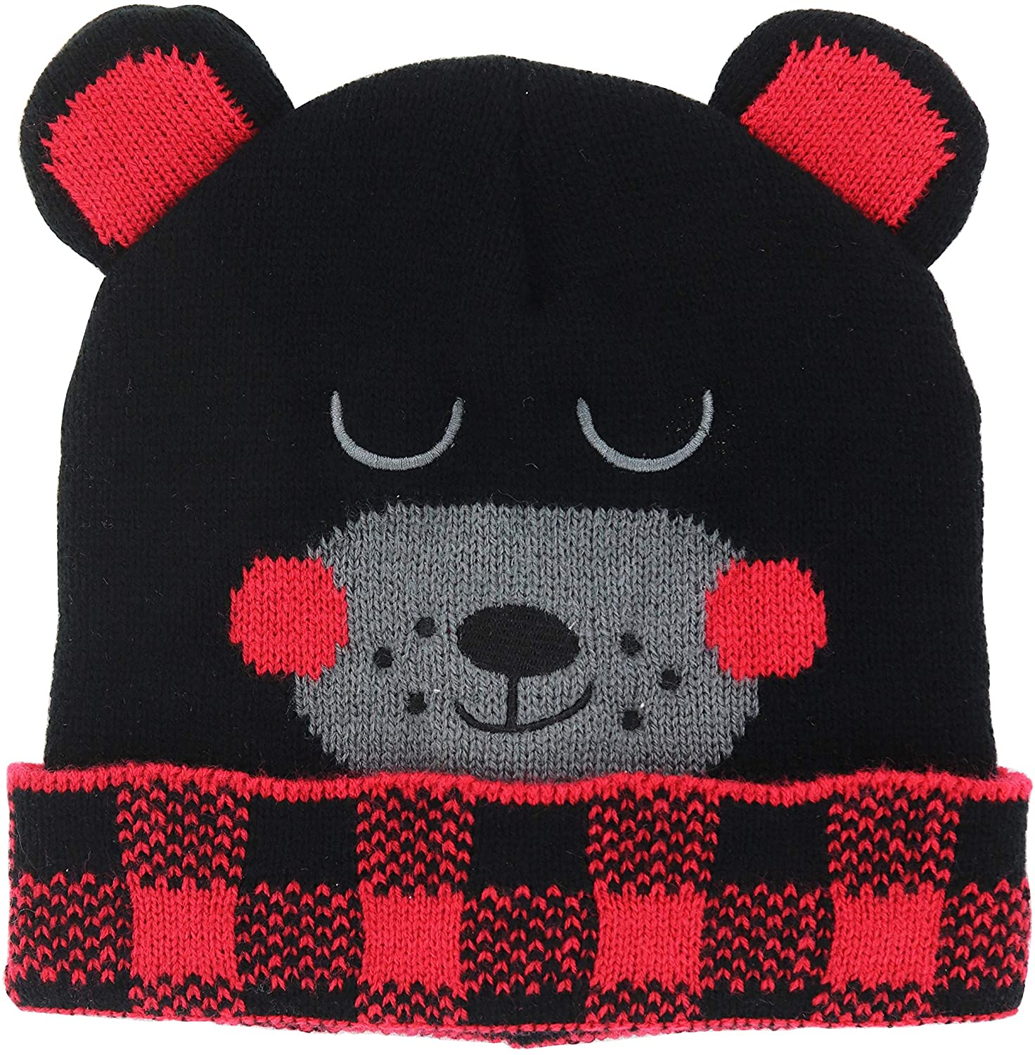 Go All Out Adult Llama Embroidered Knit Beanie Pom Cap