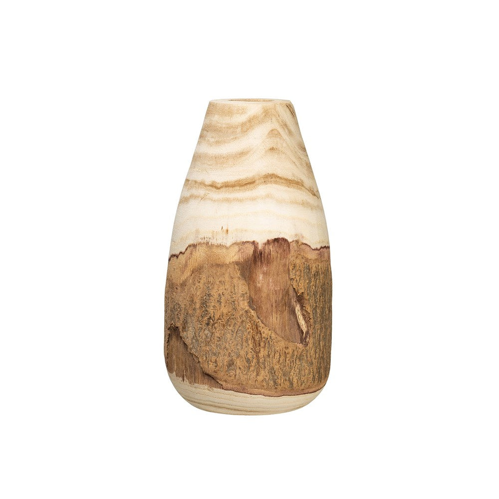Creative Co-op - Natural Wood Vase, Small