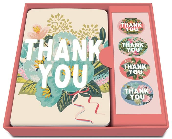 "Studio Oh! - Notecards & Sticker Set ""Flower Field Thank You"""