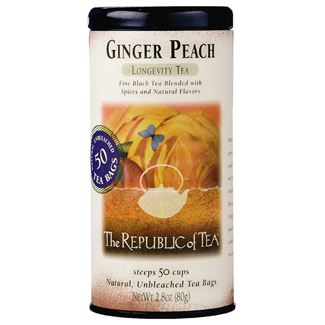 The Republic of Tea - Ginger Peach Black Tea (50 Tea Bags)