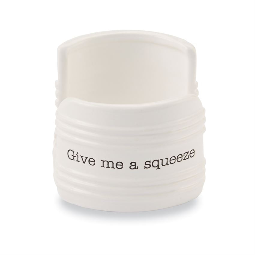 "Mud Pie - ""Give Me A Squeeze"" Ceramic Sponge Holder"