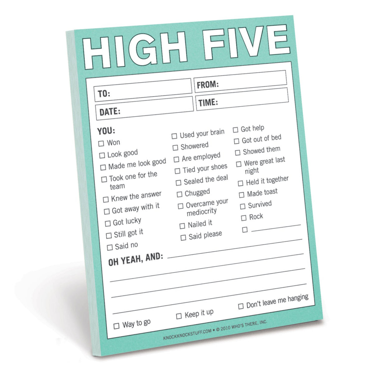 Knock Knock - High Five Nifty Notepad