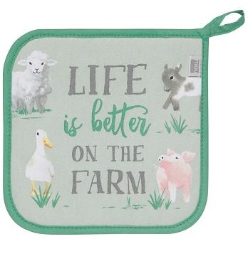 Now Designs - Classic Kitchen Potholder. Life On the Farm
