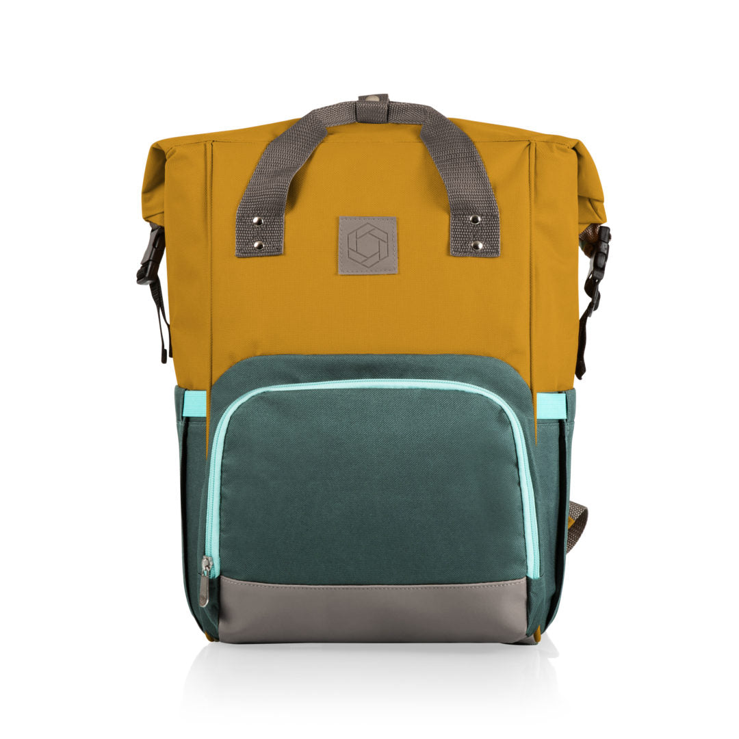 Picnic Time - On The Go Roll-Top Cooler Backpack (Mustard)