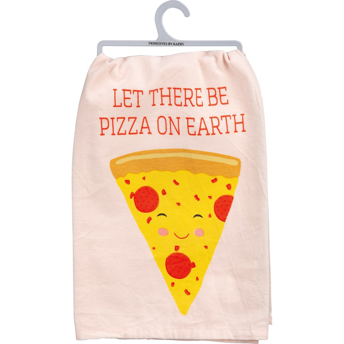 Primitives by Kathy - Let There Be Pizza On Earth Dishtowel