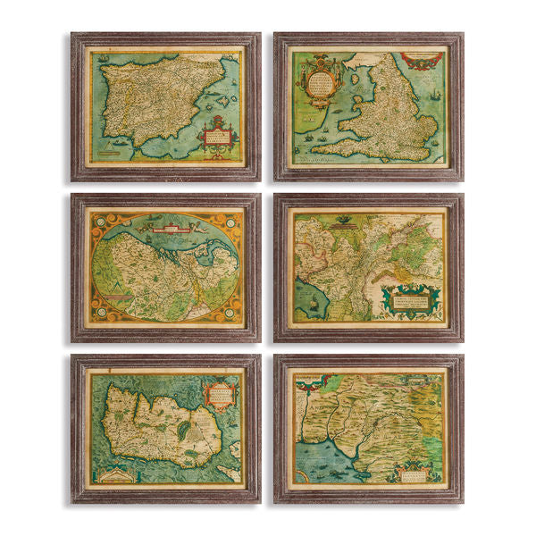 Napa Home & Garden - Maps of the Old World Print (6 options)