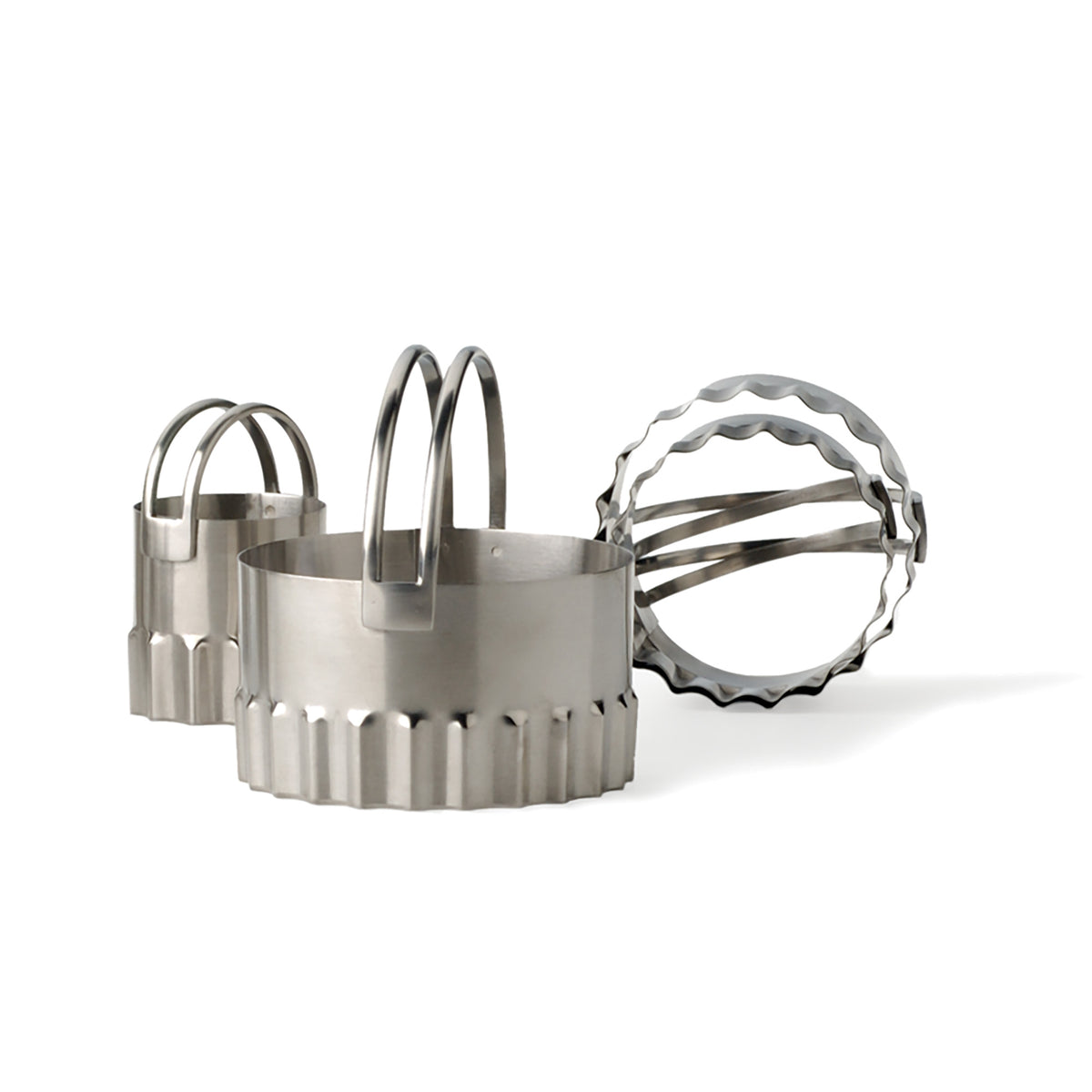 RSVP - Endurance® Round Ripple-Edge Biscuit Cutters