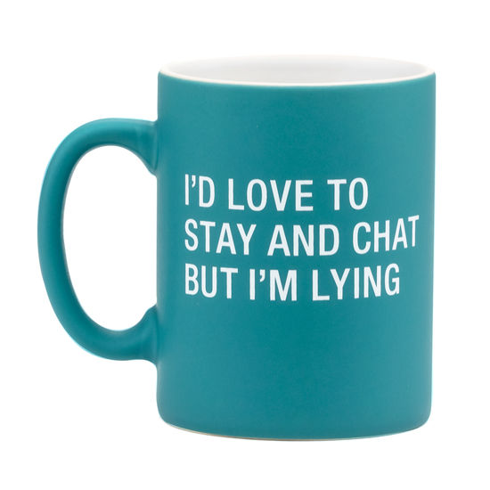 About Face Designs - Stay And Chat Mug