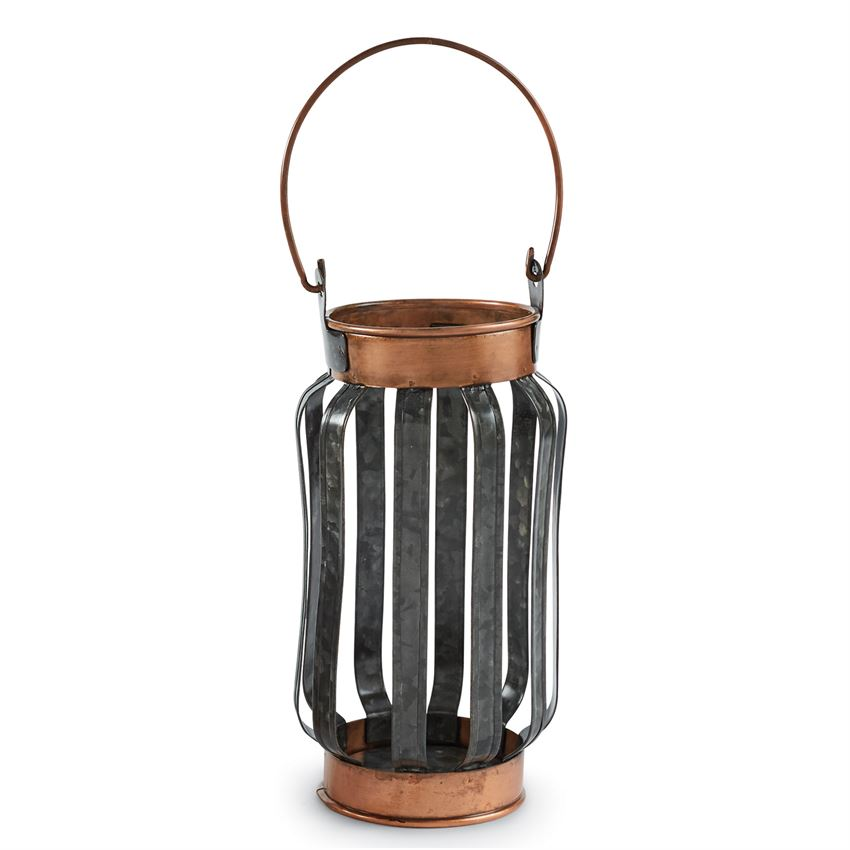 Mud Pie - Tin/Copper Candle Lantern