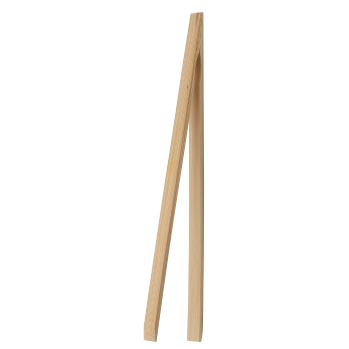 Harold - 12-inch Toast Tongs, Natural Bamboo