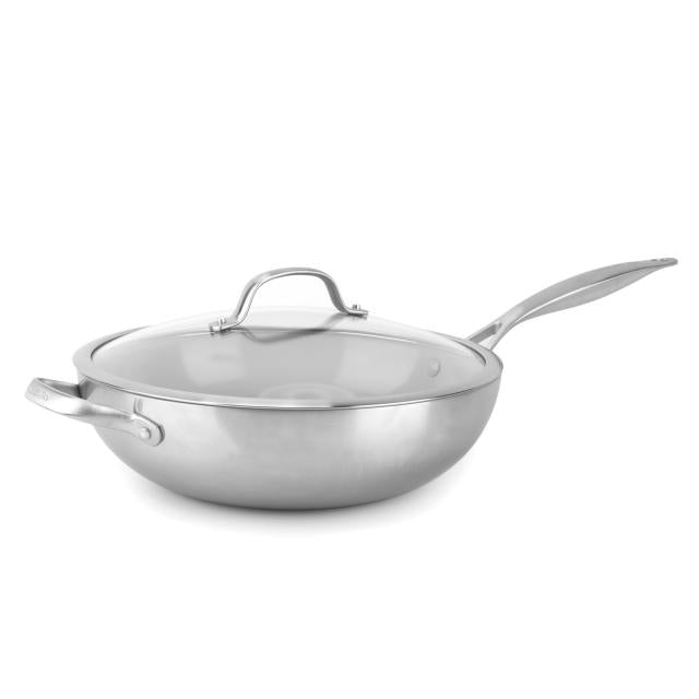 The Cookware Company - Venice Pro Ceramic Non-Stick Covered Wok (12 inch)