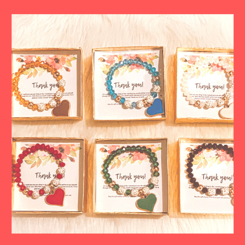 Moments of Delight 12 Gift Sets (Make 12 people happy!😍) Assorted Colors & Assorted Bracelets