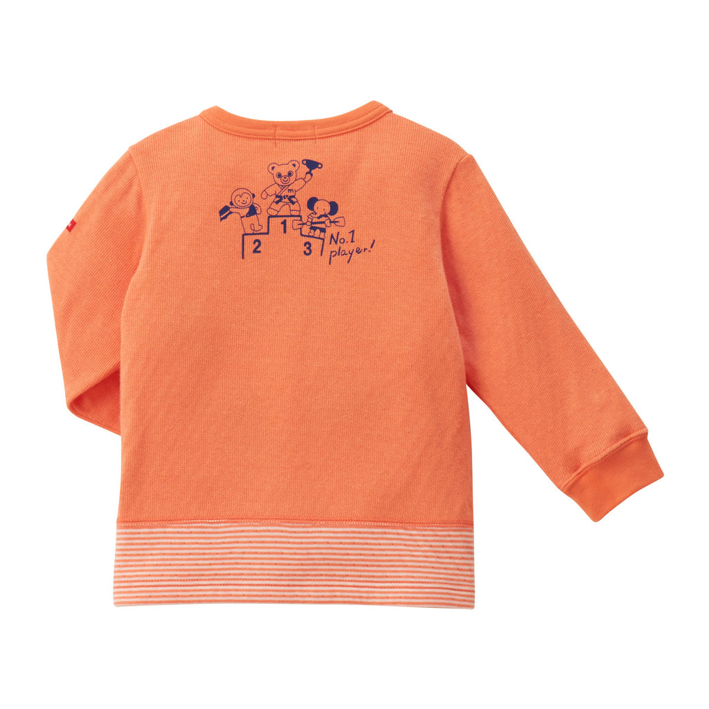 SWEATSHIRT EN COTON ORANGE