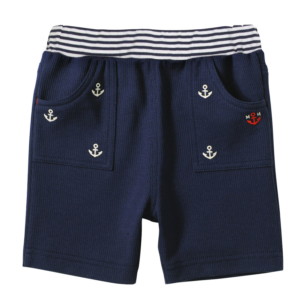 NAVY BLUE COTTON SHORTS