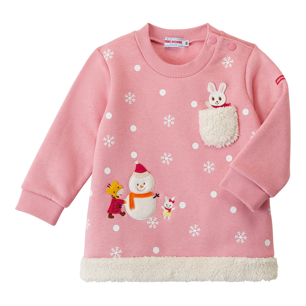SWEATSHIRT EN COTON ROSE