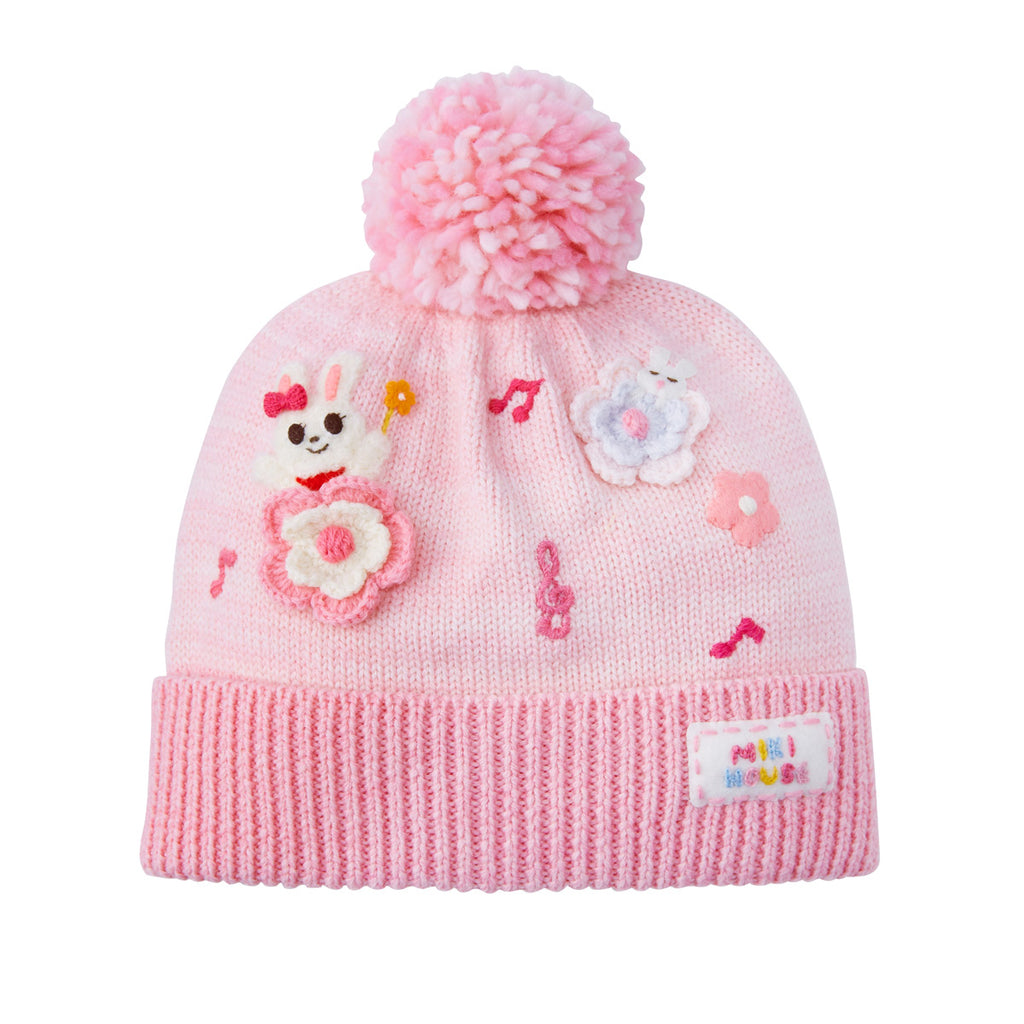 BONNET EN LAINE ROSE