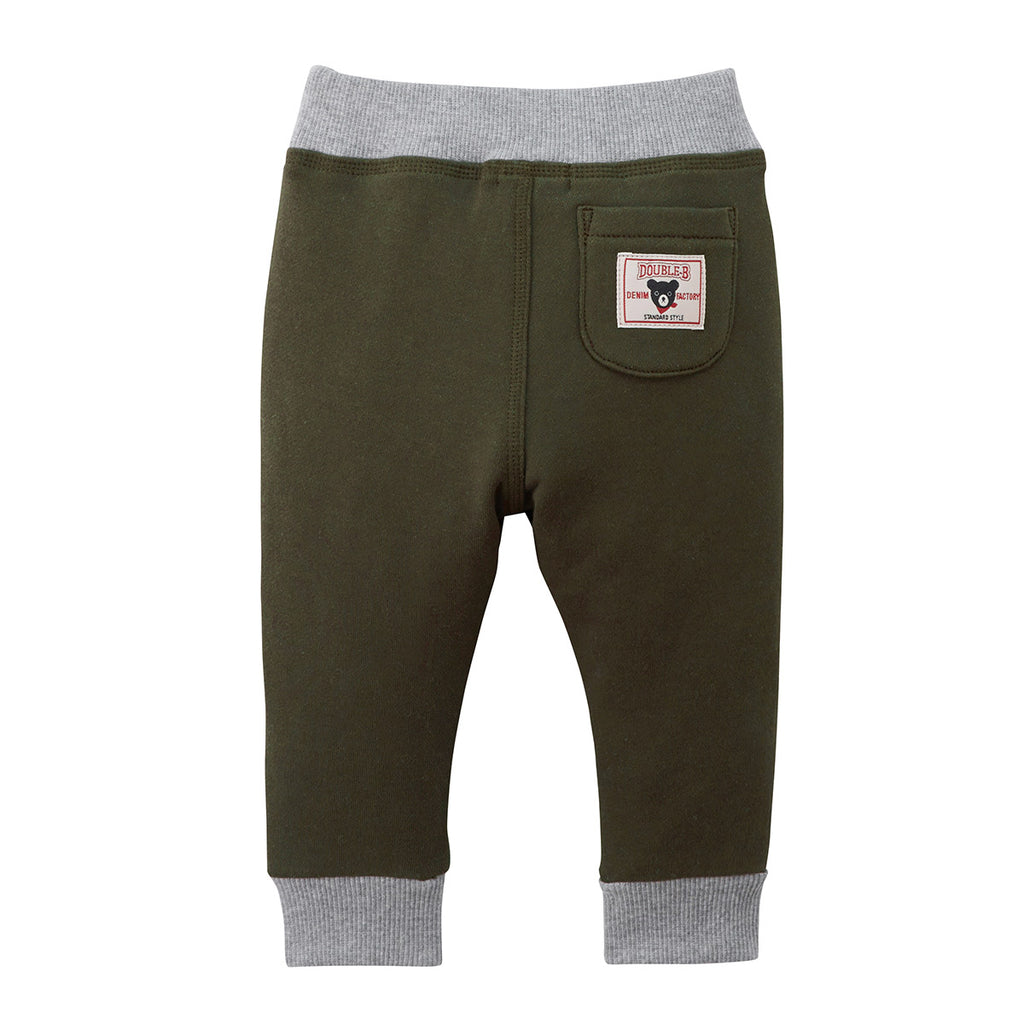 KHAKI COTTON JOGGING SUIT