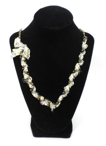 Lulu Frost Gold And Yellow Ribbon Necklace - New Donated From The Designer