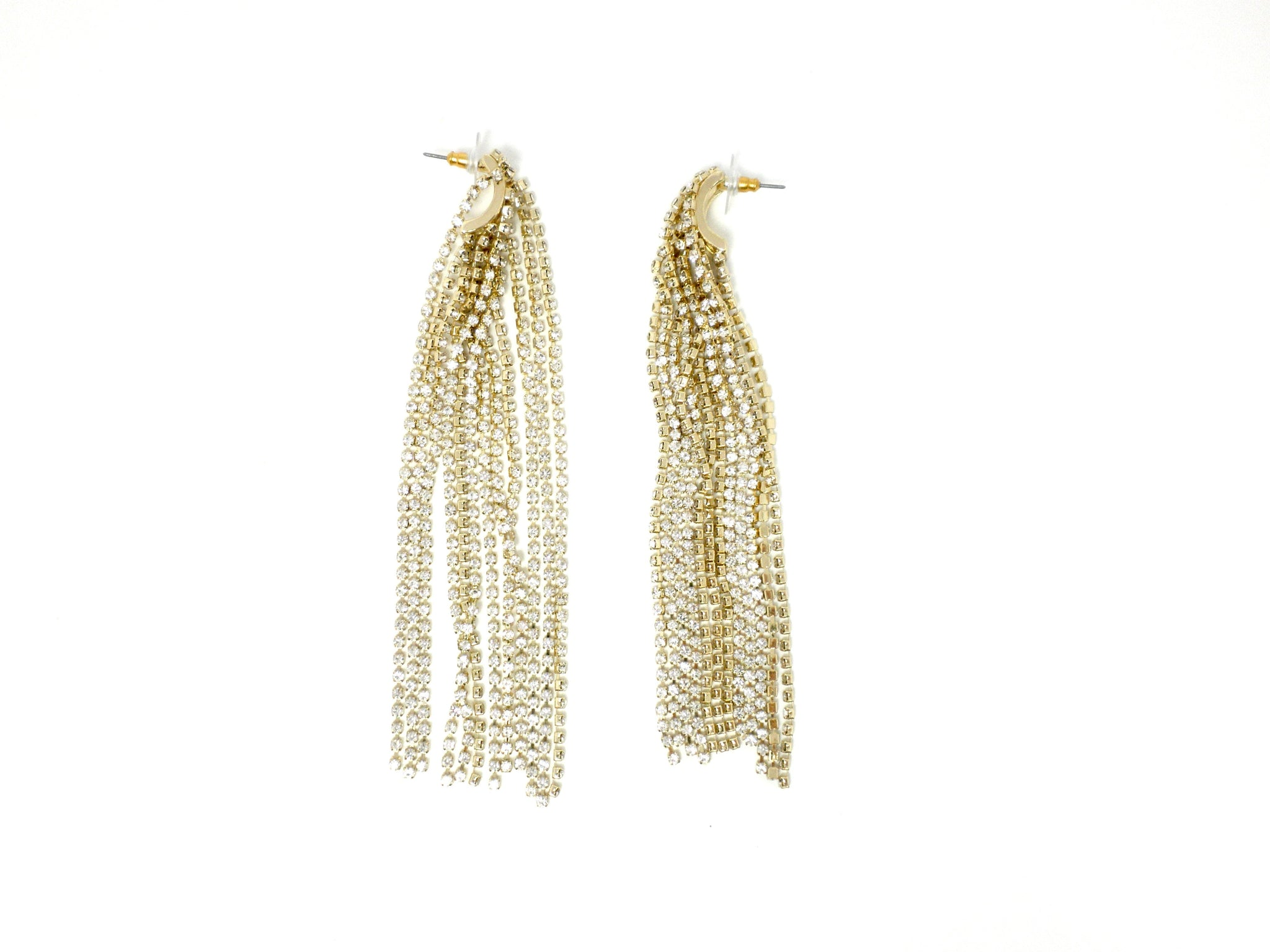 Stella & Ruby Gold Waterfall Earrings - Donated From Designer - The Fashion Foundation