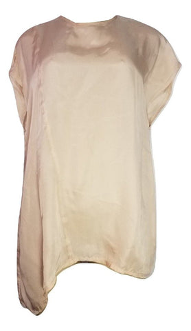 Laura Delman Peach Satin Blouse - Size 4 - Donated from the Designer - The Fashion Foundation