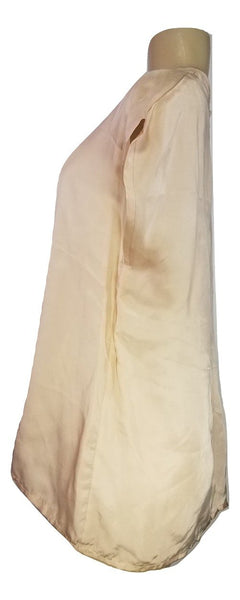 Laura Delman Peach Satin Blouse - Size 4 - Donated from the Designer