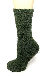 Unisex - MUK LUKS Fuzzy Green Socks - One Size - The Fashion Foundation