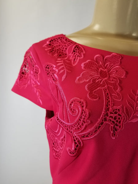 Marchesa Notte Pink Embroidered Floral Dress - Size 2 - Donated From The Designer - The Fashion Foundation