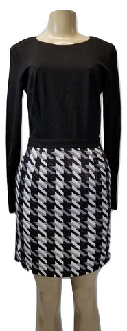 Minan Wong Black, White, And Gray Long Sleeve Dress- Size 0, 2, 6, 8, 10, 12 - Donated From Designer