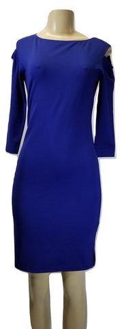 Minan Wong Blue Cut Out Shoulder Long Dress - Size 0, 6, 8, 10 - Donated From Designer