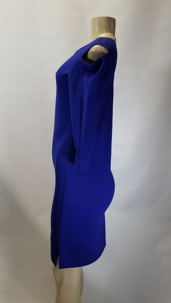 Minan Wong Blue Cut Out Shoulder Long Dress - Size 0, 6, 8, 10 - Donated From Designer - The Fashion Foundation