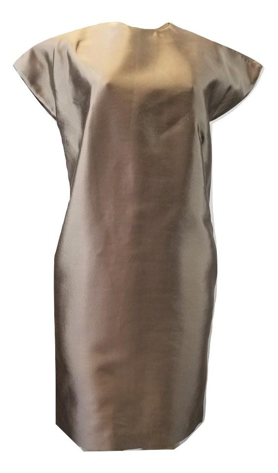 Laura Delman Beige Silk Sleeveless Dress - Size 4 - Donated From The Designer - The Fashion Foundation