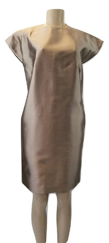 Laura Delman Beige Silk Sleeveless Dress - Size 4 - Donated From The Designer