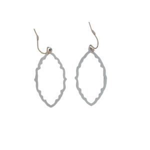 White Leaf Earrings - The Fashion Foundation - {{ discount designer}}