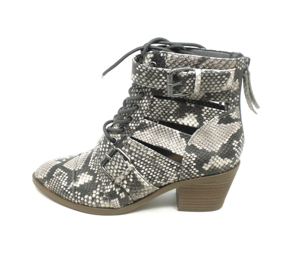 Faryl Robin Snake Skin Cut-Out Booties - Size 6 - The Fashion Foundation